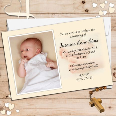 Personalised Christening Invitations / Personalised Baptism Cards